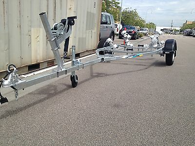 NEW galvanised boat trailer. 4.7 metres overall. 13 inch ford wheels