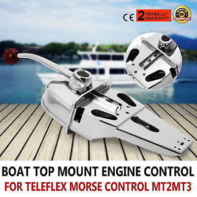 Universal Marine Boat Dual Control Lever Zinc Alloy Top Mount Handle Engine