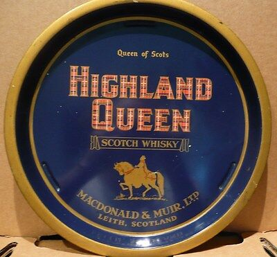 LOVELY ORIGINAL 1950s HIGHLAND QUEEN SCOTCH WHISKEY SERVING TRAY