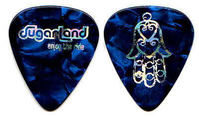 SUGARLAND Guitar Pick : 2007 Enjoy The Ride Tour - Hamsa hand blue Jennifer