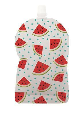 NEW My Lil Pouch Reusable Food Storage Pouch Top Spout 140ml 5pk WATERMELON
