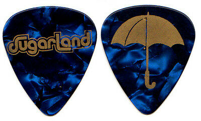 SUGARLAND Guitar Pick : 2009 Tour - umbrella blue pearl Jennifer Nettles