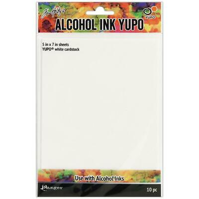 Yupo Alcohol Ink Paper - Tim Holtz - White 5x7 Small - 10 Sheets