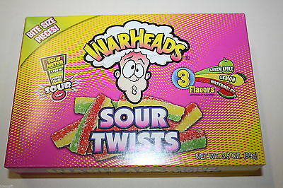 2 x WARHEADS SOUR TWISTS 99g each box
