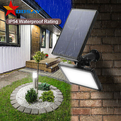 48 LED Solar Powered Spotlight Flood Lighting Outdoor Wall Landscape Lawn Lamp !