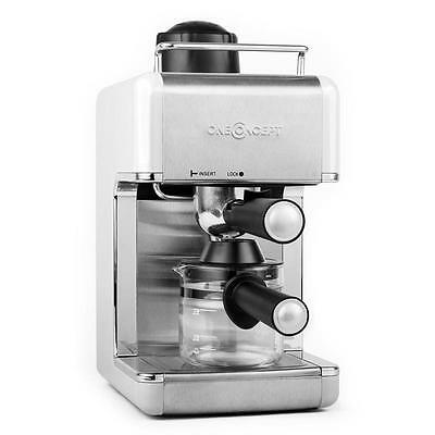 Espresso Coffee Maker Machine Steam Nozzle Stainless Steel Cup Warmer - Silver