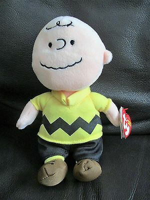 THE SNOOPY MOVIE Charlie Brown TY beanie bean plush soft toy NEW Peanuts