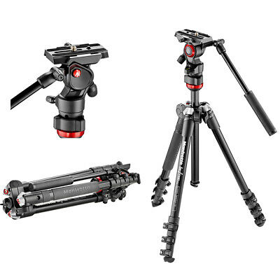 New In Box Manfrotto MVKBFR-LIVE Befree Live Video Tripod Kit with QR 501PL