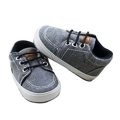 Pre-walkers Shoes Baby Boys Toddler Infant Soft Sole Canvas Shoes 0-18 Months