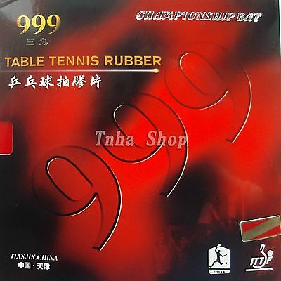 2x 999T Type Pips-In Table Tennis Ping Pong Rubber with Sponge