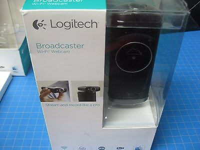 Logitech Broadcaster Wi-Fi Webcam for HD Video Streaming, Calling, Recording NEW