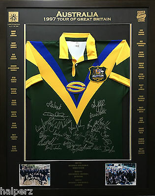 Blazed In Glory - 1997 Australian Superleague Tour - NRL Signed & Framed Jersey