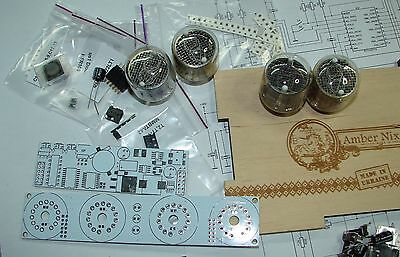 Nixie tube clock kit 2.1 with IN-4 Tubes in wood box