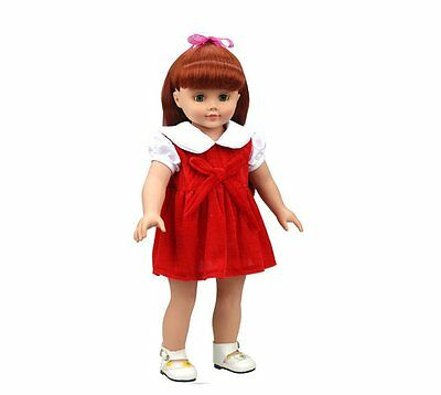 Highmall-uk 16 Inches High Simulation Baby Dolls Clothes Velvet Material Dress -
