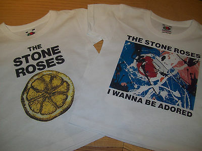 Kids Boys Girls  The Stone Roses 'i Wanna Be Adored' And 'lemon' T Shirt Set