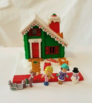 polly pocket Musical Holiday Chalet 100% Complete  RARE 1993