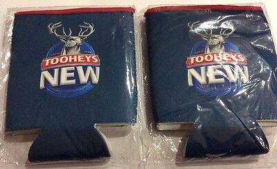 2 x Tooheys New collectable Stubby Holder Beer Can Coolers Mancave Bottle #2