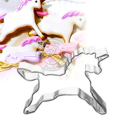 Unicorn Horse Cake Decorating Cookies Cutter Mold Pastry Baking Biscuit Mould UK