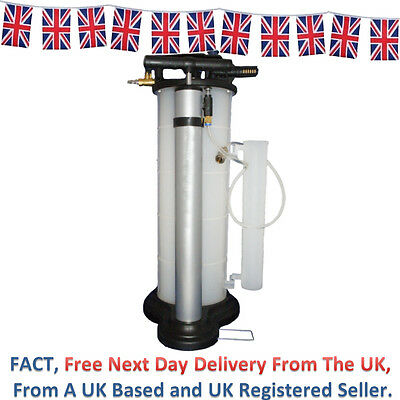 9 L Litre Vacuum Manual & Pneumatic Oil & Fluid Extractor