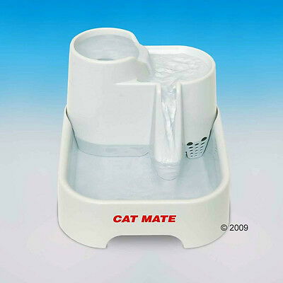 Pet Cat Dog Water Fountain Drinking Bowl Fresh Running Clean Waterfall Filtered