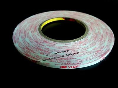0.4mm thick,3M VHB Strong Scotch Double Sided Adhsive White Foam Tape Car Panel