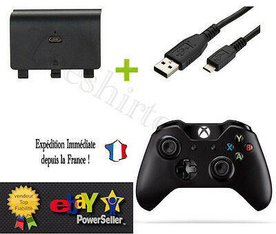 BATTERIE RECHARGEABLE + CABLE pour Manette X BOX ONE - Xbox 1 battery recharge