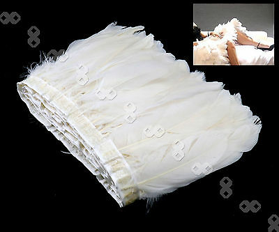 White Natural Goose Feather Cloth Tape 15-20 cm For Wedding Layout Trimming