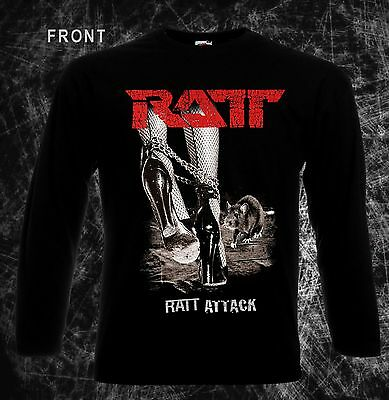 RATT-Ratt Attack-American heavy metal band,T-shirt long sleeve-sizes:S to XXL
