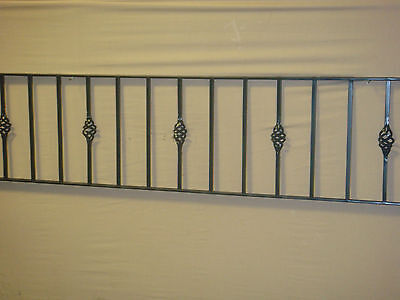"""12"""" High Wrought Iron Metal Fencing/railings Panel Type W12"""