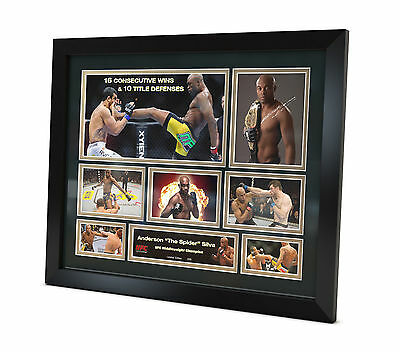 Anderson Silva Signed Photo UFC Memorabilia Limited Edition FRAMED