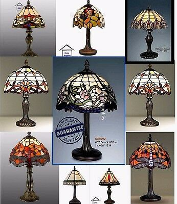 Stunning Tiffany Style HandCrafted Table /Desk / Bedside Lamps (Various Design)