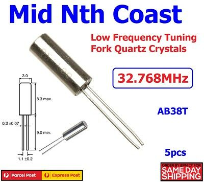 5pc x  Low Frequency 32.768MHz Quartz Crystal Oscillator AB38T Tuning Fork