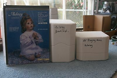 """DOLL ARTWORKS DOLL MOLDS ~ 28"""" AUBREY Head / Sh Pl Mold with Praying Arms Mold"""