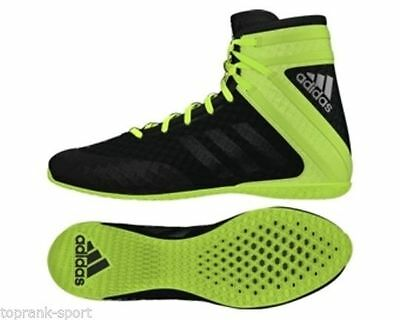 Adidas Adults Mens Speedex 16.1 Shock Black/Green Boxing Boots Shoes