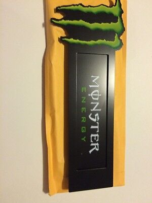 Monster Energy metal sign with three suction cups New Sealed Package