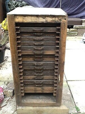 antique wooden filing chest