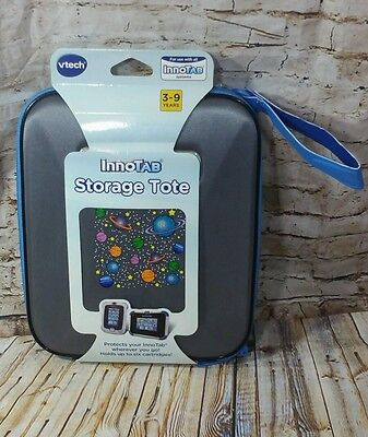 NEW Vtech Innotab STORAGE TOTE Case Silver/Blue ~ PROTECTS ALL INNOTABS
