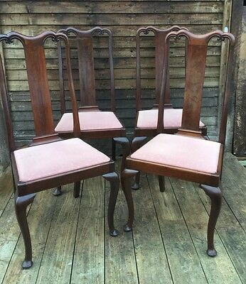 Antique Set Queen Anne style Mahogony Dining Chairs Harrods