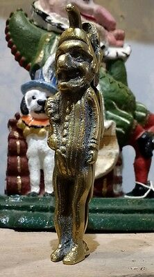 Vintage Brass Nutcracker Punch and Judy -  Antique Nut Cracker Curio Novelty