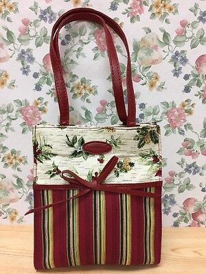 Longaberger Tote Cloth - Gift Bag  Lunch Bag or Book Bag - Holiday Theme