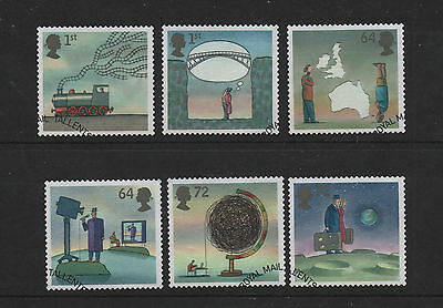 1) GB Stamps  2007 World of Invention Full Set Good Used.