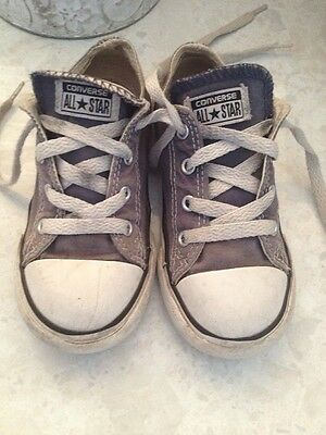 Converse Navy Distressed Trainers Size 9 Unisex