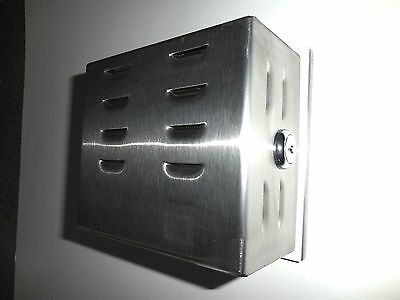 Locking Thermostat Guard Cover, Stainless Steel, 5-1/2 x 5 x 3 Free Shipping
