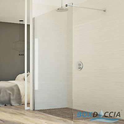 Shower Panel Walk In Clear Glass Screen 8Mm H198