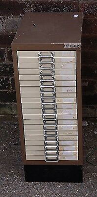 Awsome Vintage Steel Retro Industrial 20 Drawer Filing Cabinet Multi Collectors