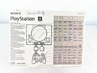 PS1 *SCPH-7002 Bedienungsanleitung / Handbuch* Instruction Manual / Playstation