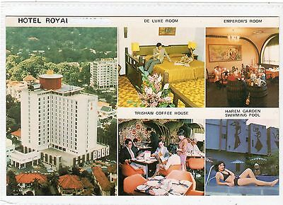 HOTEL ROYAL: Singapore postcard (C11997)