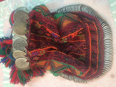 Hebron Palestinian Wedding Hat With Silk Embroidery And Silver Coins
