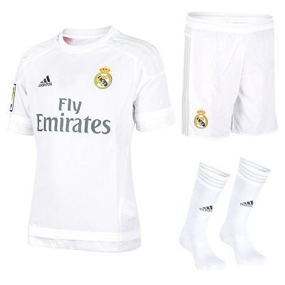 Real Madrid adidas Kids Football Kit & Presentation, gift box Shirt Short Socks