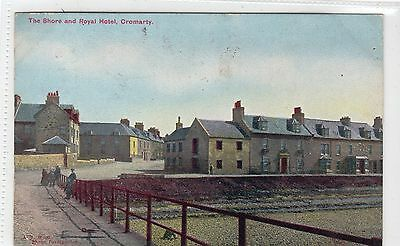 THE SHORE AND ROYAL HOTEL, CROMARTY: Ross-shire postcard (C11644)